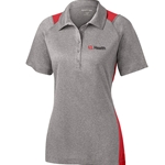 ULH118/LST665<br>Sport Tek Ladies Heather Colorblock Contender Polo
