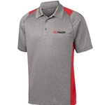ULH119/ST665<br>Sport Tek Mens Heather Colorblock Contender Polo